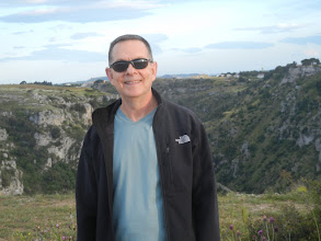Photo: Me, on the cliff opposite Matera