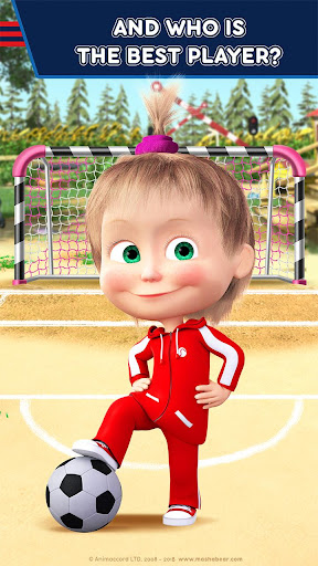 Masha and the Bear: Football Games for kids screenshots 1