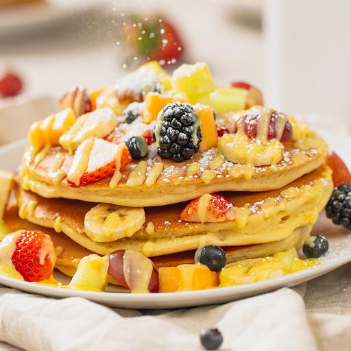 Fruity Pancake with English Cream