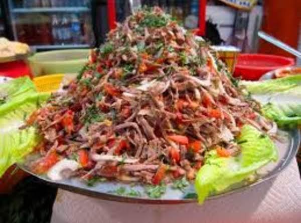Salpicon de Res Recipe/ Shredded Beef Salad_image