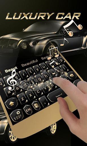 Luxury Car GO Keyboard Theme Screenshot