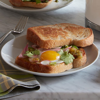 Fried Egg Sandwich with Quick Pickled Onions Recipe