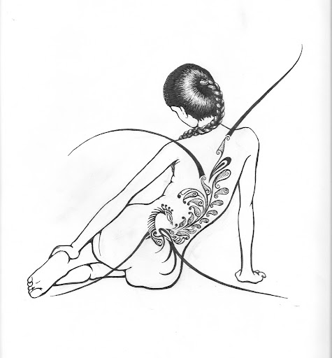 Sexy Women tattoo, beautiful dragon temporary tattoo design 253