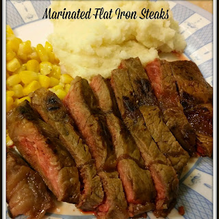 Marinated Flat Iron Steaks