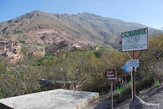 Photo: señalización del albergue