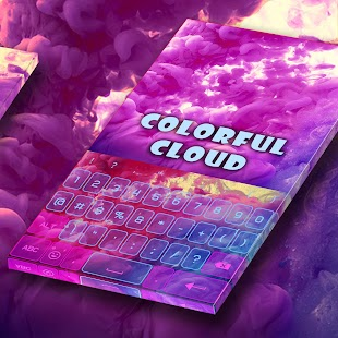 Colorful Cloud Keyboard Theme - náhled