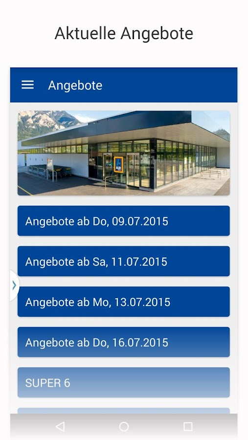 ALDI SUISSE- screenshot