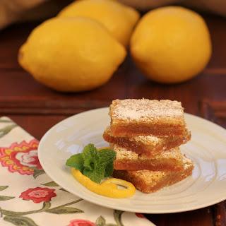 Graham Crusted Lemon Bars~.