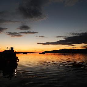 Veliko Gradiste, Serbia by Irena Čučković - Landscapes Sunsets & Sunrises ( sunset, sundown, evening, danube, river )
