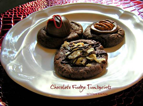 Chocolate Fudge Tumbprints Recipe