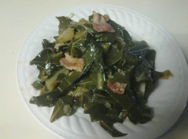 Bourbon Brown Sugar Bacon Collard Greens Recipe