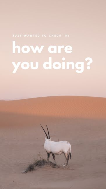 How Are You Doing? - Facebook Story Template