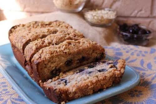 "Blueberry-Banana Streusel Bread ""This banana bread recipe is yummy, moist and full..."