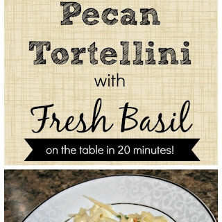 Tortellini with Basil and Pecans Recipe