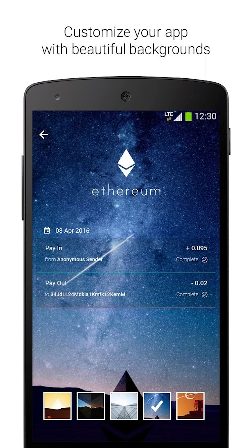 Ethereum Wallet- screenshot