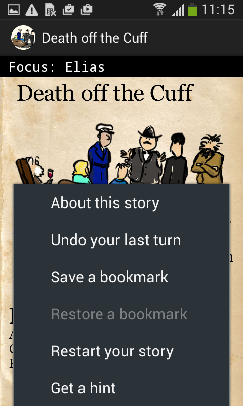 Death off the Cuff- screenshot