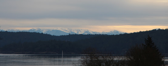 Photo: Olympics across West Sound, a bit of Orcas, and Shaw. Yep, that's our view.