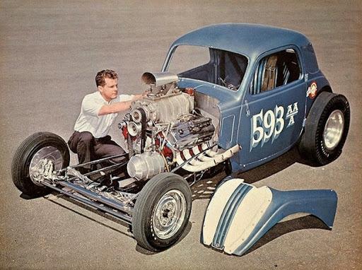 Fiat Topolino Drag Racing.