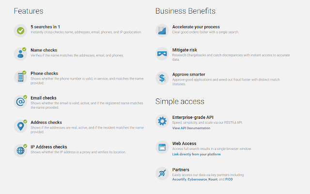 Whitepages Pro for Volusion