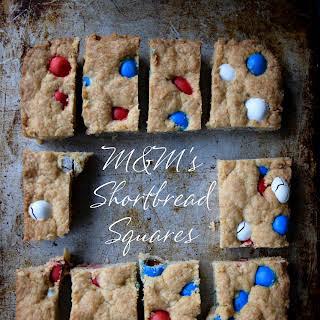 M&M's Shortbread Squares.