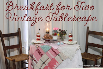 Photo: My breakfast for two vintage tablescape will be up on the blog soon!