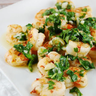 Roasted Garlic Cilantro Shrimp