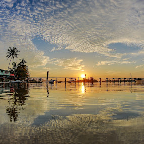 Evening at Kampung Gayang by Rustam Razali - Landscapes Sunsets & Sunrises