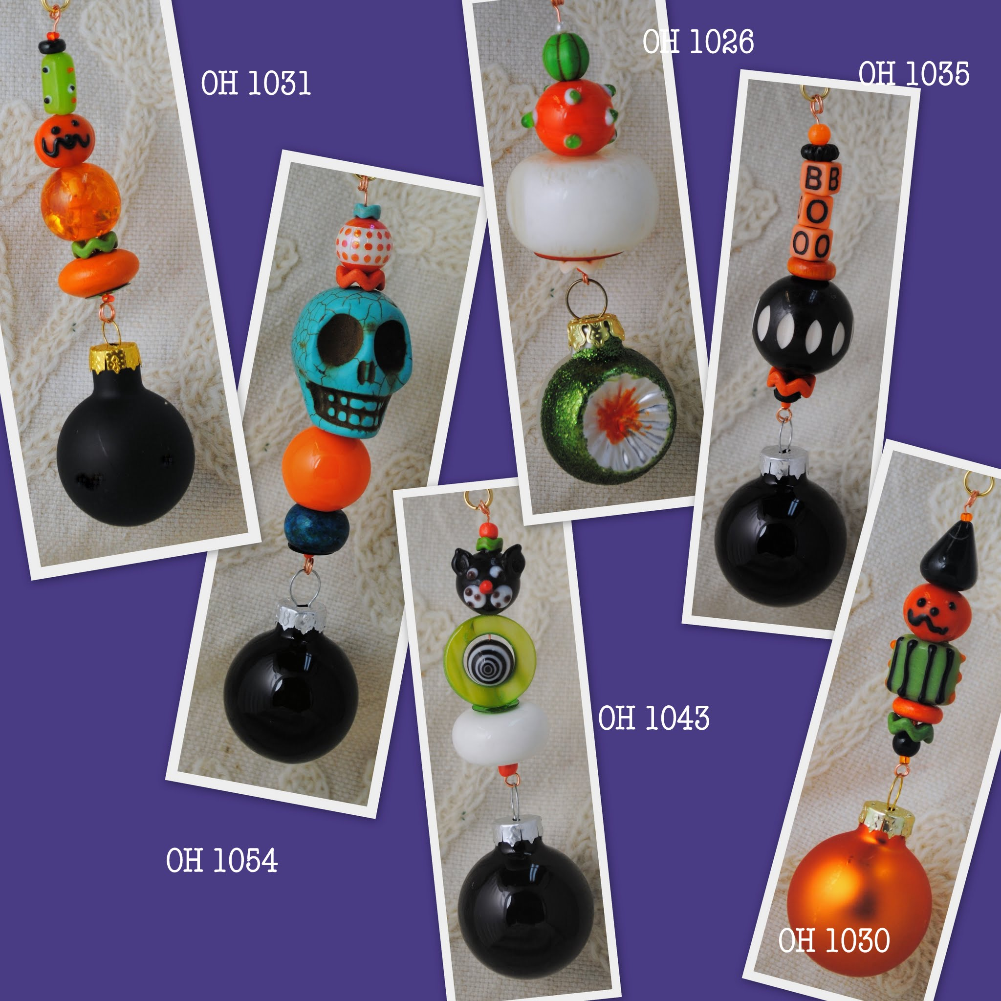 Scary & Sweet Halloween Themed Christmas Tree Ornaments
