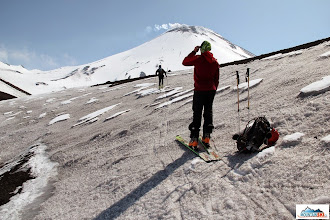 Photo: The snow on the way to active volcano Avachinsky can differ significantly - here is just volcano's dust