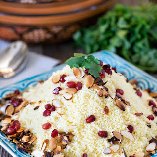 Almond Couscous with Pomegranate