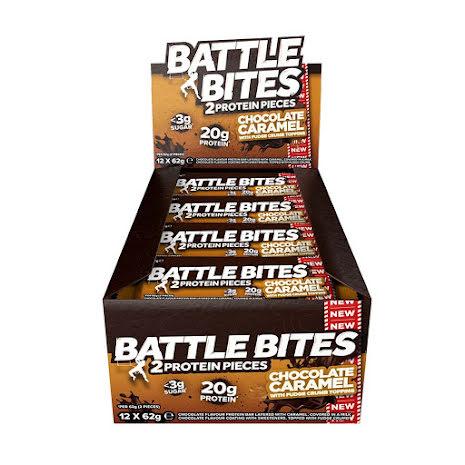 Battle Bites Protein Bars 12 x 62g - Chocolate Caramel