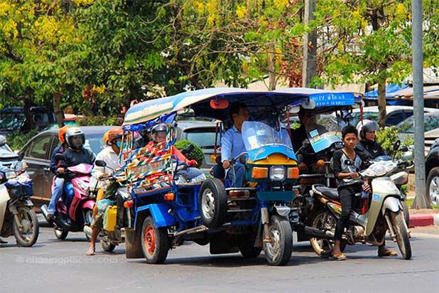 Balade en tuk-tuk à Luang Prabang