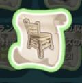 西洋式の木のいすの設計図