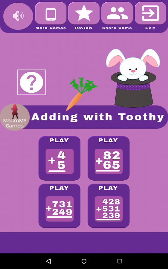Adding with Toothy- screenshot