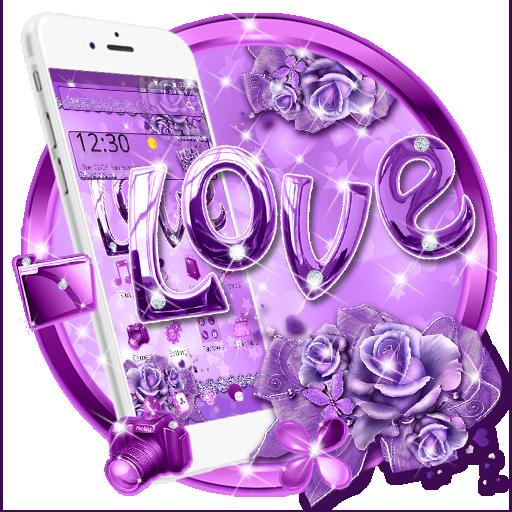 Purple Diamond Theme Love