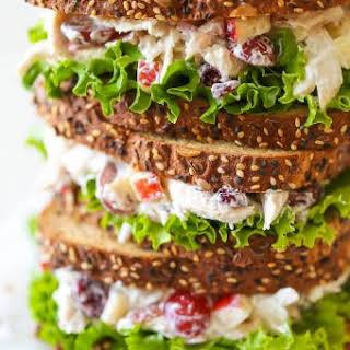 Greek Yogurt Chicken Salad Sandwich.