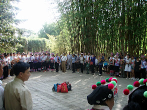Photo: Traditional Bai dancing in the park