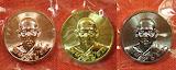 เหรียญที่ระลึกยกฉัตรอุโบสถ หลวงปู่ฮก วัดมาบลำบิด จ.ชลบุรี ปี ๒๕๕๙ (รวม ๑ ชุด ๓ เนื้อ)