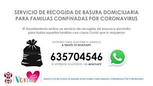 Cartel informativo del Ayuntamiento de Vera.
