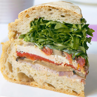 Ham, Turkey and Roasted Vegetable Sandwiches Recipe