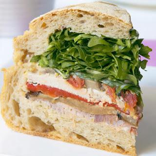 Ham, Turkey and Roasted Vegetable Sandwiches.