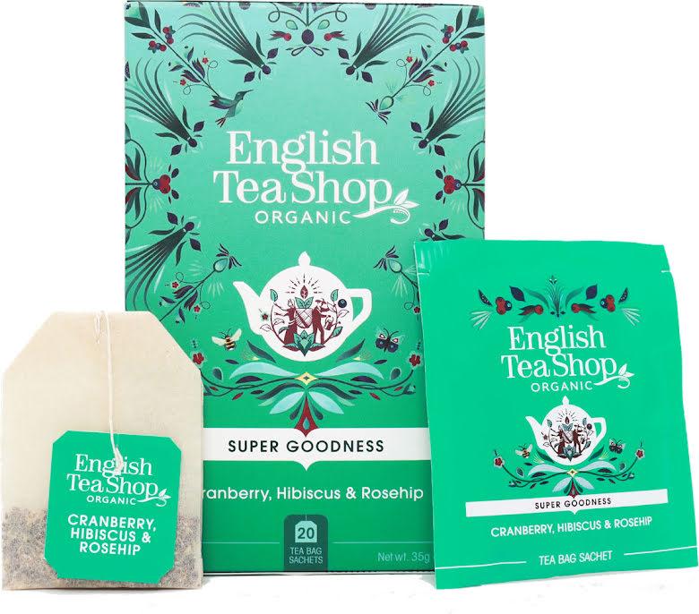Örtte tranbär, hibiscus & nypon - English Tea Shop