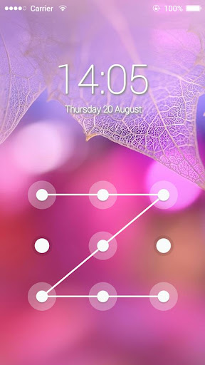 AppLock Theme Pink Leaf