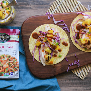 Moroccan Chicken Tacos with Grilled Pineapple Salsa
