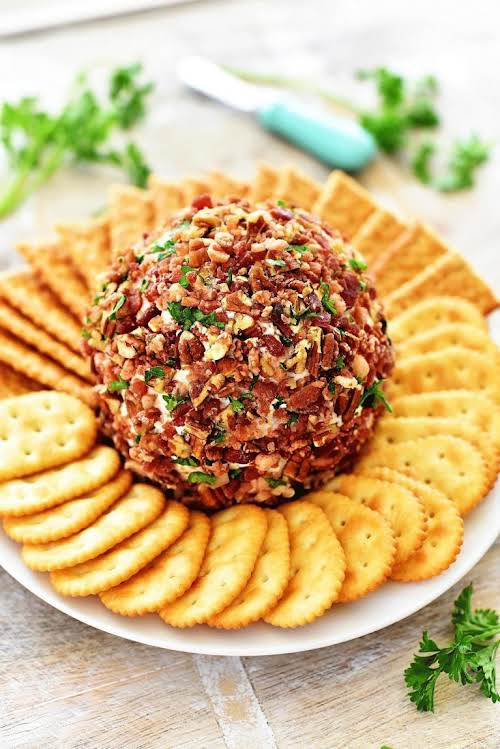 "Recipe Here: Bacon Ranch Cheese Ball ""This year's is going to be..."