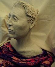"Photo: Esta Bust -16"" tall- hi fire ceramic clay - unglazed"