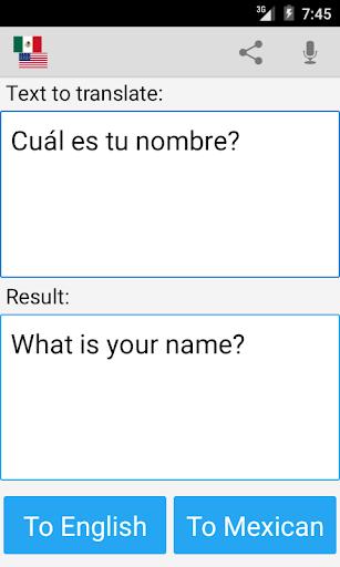 Mexican Translator Pro screenshot 4