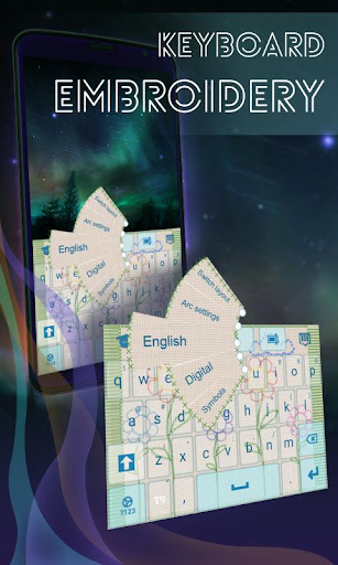刺繍のテーマキーボード