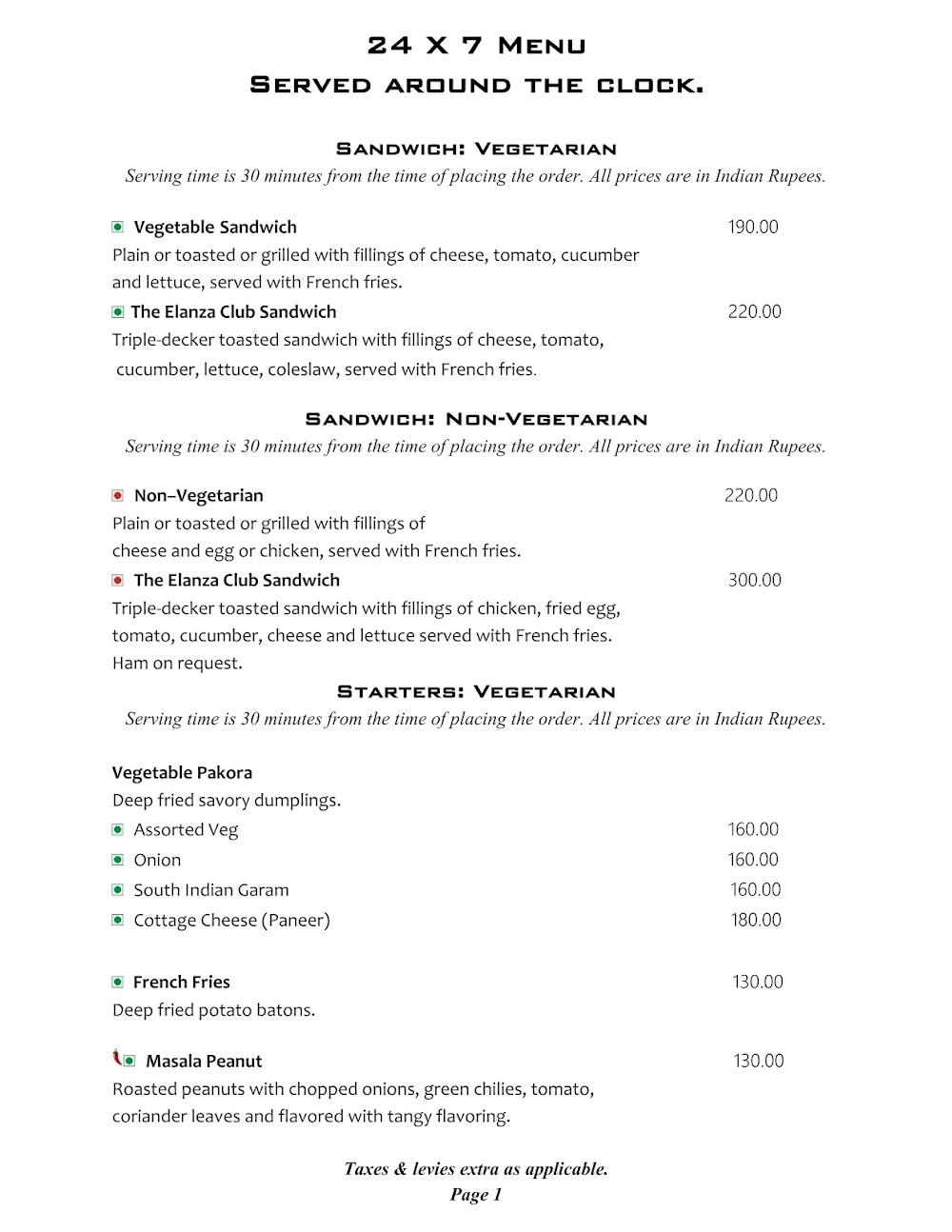 Cafe @ Elanza menu 8