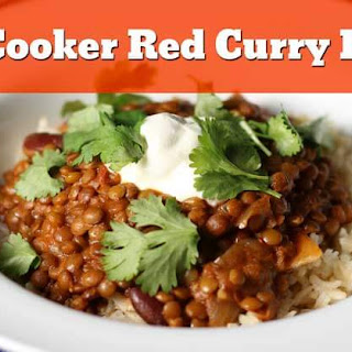 Slow Cooker Red Curry Lentils